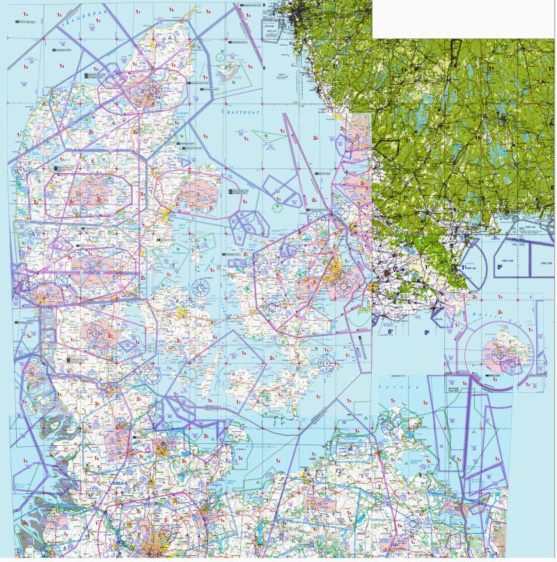 VFR MAP DANMARK